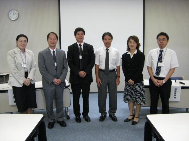 左から大場研究員,私,吉川先生,梶浦さん,澤さん,藤澤くん