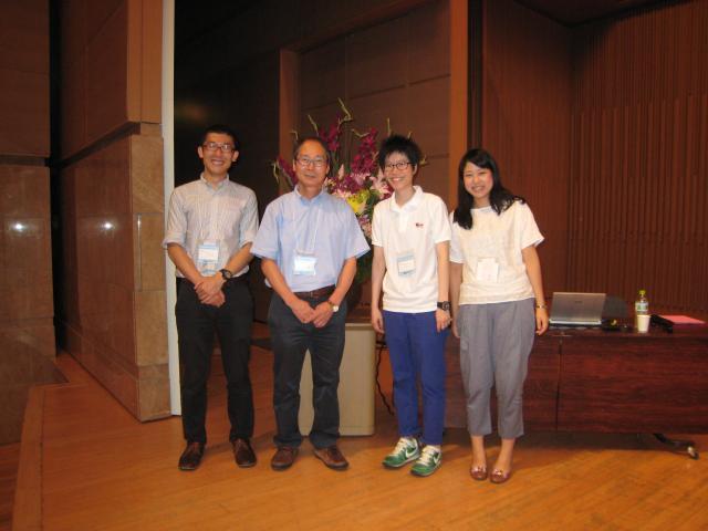 島崎くん、李さん、そして卒業生の高井さんと